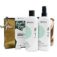 Подарочный набор косметики с косметичкой Indola Innova Repair, для восстановленияволос
