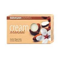 Органическое Мыло-крем Lavender для лица с маслами Ши и Лаванды Sodasan