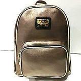 Стильные городские рюкзаки кожзам (черный)23*28см, фото 2