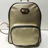 Стильные городские рюкзаки кожзам (черный)23*28см, фото 3