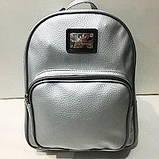 Стильные городские рюкзаки кожзам (черный)23*28см, фото 4