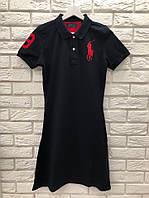 Модное летнее трикотажное турецкое платье, черный. FL 1105, фото 1