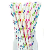 Трубочки для сока цветной горох 12 шт