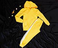Костюм спортивний дитячий унісекс бавовняний з лампасами Спортивный костюм с капюшоном унисекс хлопок