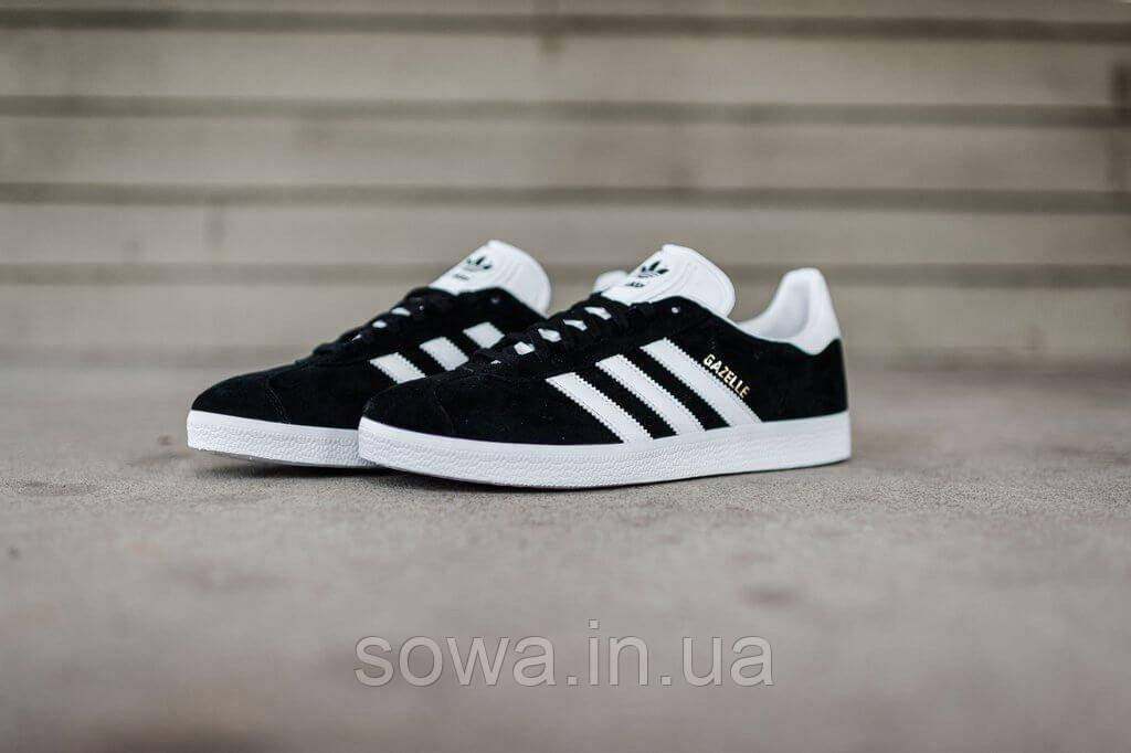"✔️ Кроссовки Adidas Gazelle ""Black/White"""