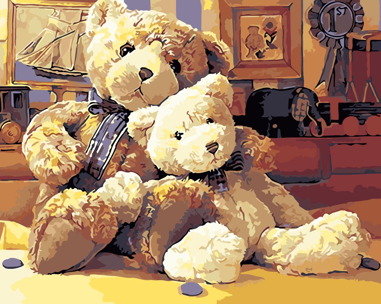 Художественный творческий набор, картина по номерам Старые игрушки, 50x40 см, «Art Story» (AS0105)