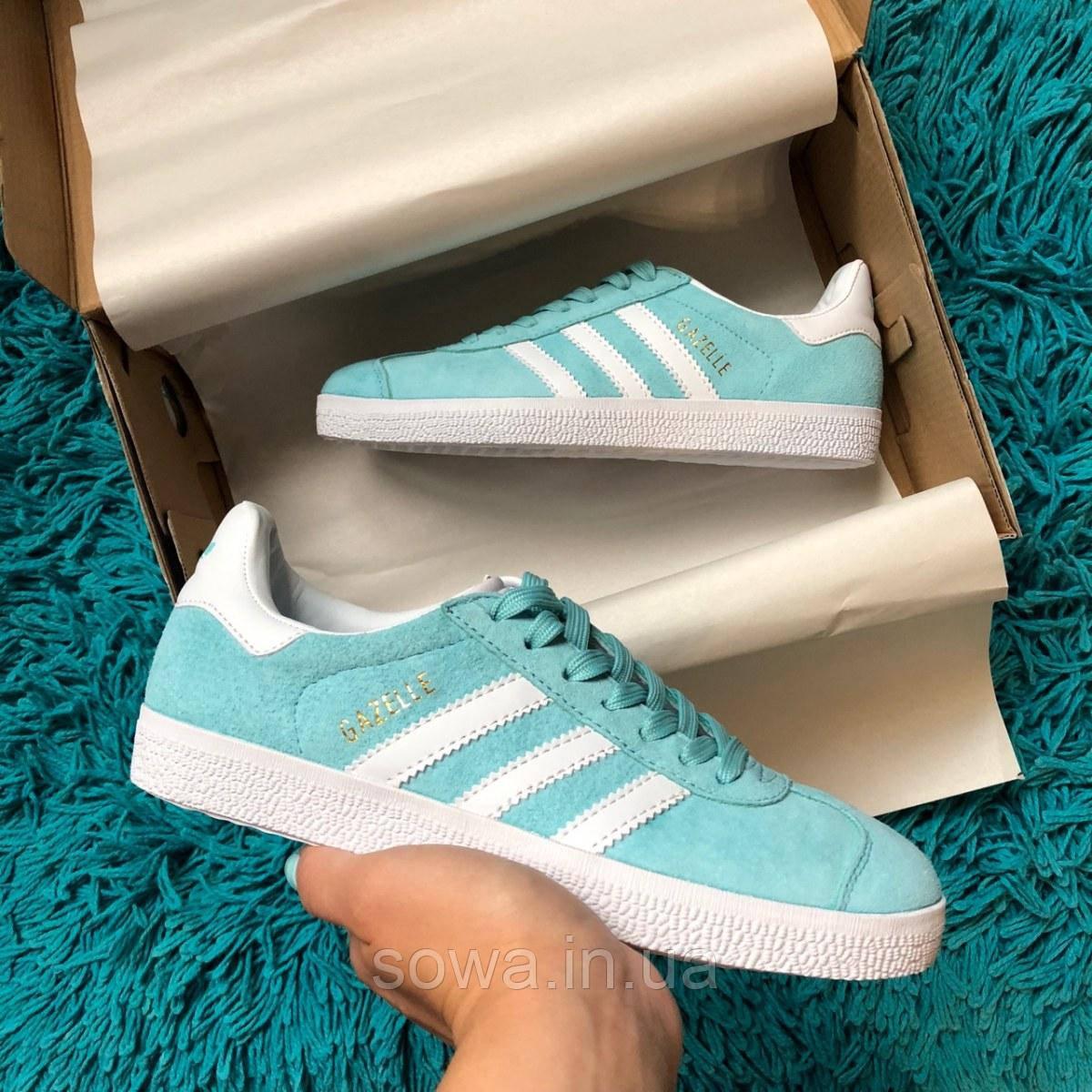 "✔️ Кроссовки Adidas Gazelle ""Light Blue"""