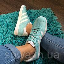 "✔️ Кроссовки Adidas Gazelle ""Light Blue"" , фото 2"