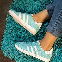 "✔️ Кроссовки Adidas Gazelle ""Light Blue"" , фото 3"