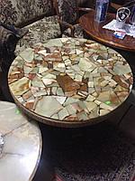 Стол журнальный с натуральным камнем  «Хорн»