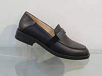 Стильные женские кожаные туфли лоферы