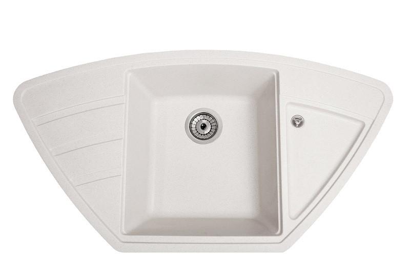 Мийка гранітна для кухні Solid Крафт білий 98x51