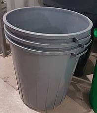Бак для мусора 70л. с плавающей крышкой, фото 2