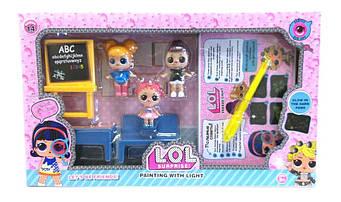 Набор Школа с куклой L.O.L 588-13 рисуй светом