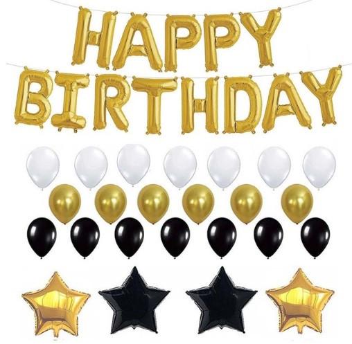 """Набор шаров на день рождения, """"HAPPY BIRTHDAY"""" 01"""