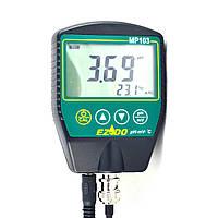 Портативный рН-метр  EZODO MP-103GL для вязких веществ с выносными электродами GL42/GL43 и термодатчиком