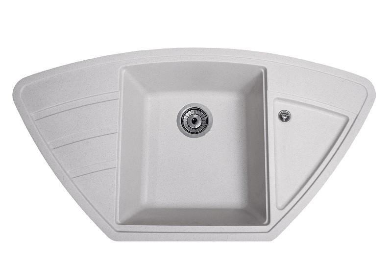 Кухонная гранитная мойка Solid Крафт серый 98x51