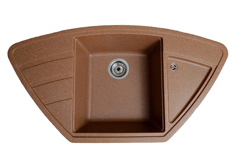 Кухонная гранитная мойка Solid Крафт терракот 98x51