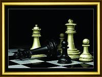 """Чудная картина """" Шахматы"""" из страз Сваровски ручная работа"""