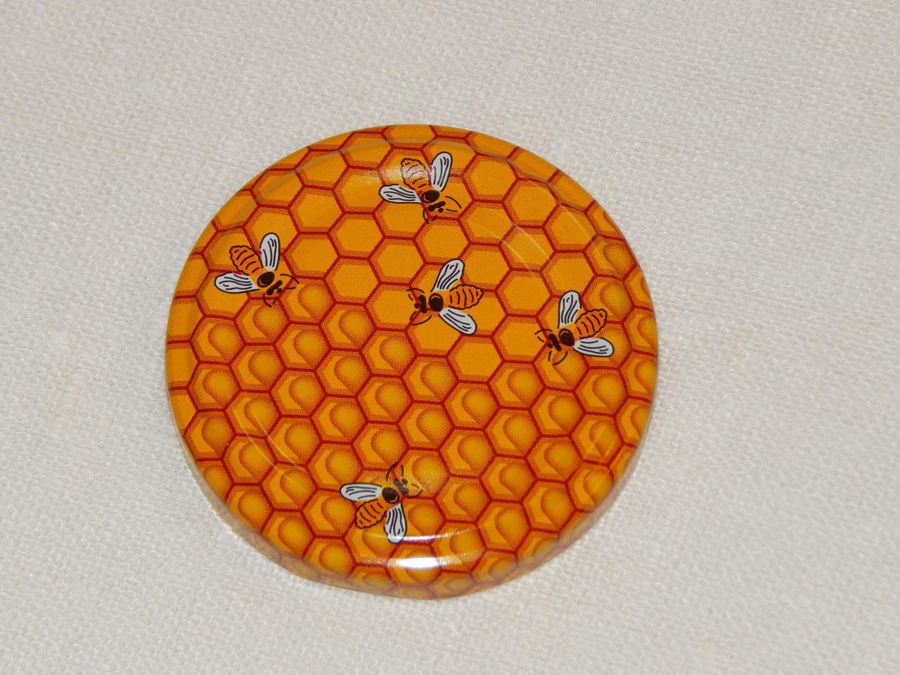 Крышка закаточная твист-офф размер 53 мм медовая