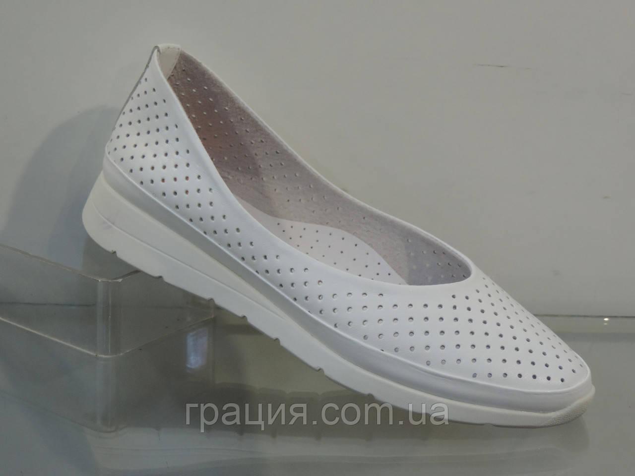 Женские мягкие удобные туфли натуральная кожа