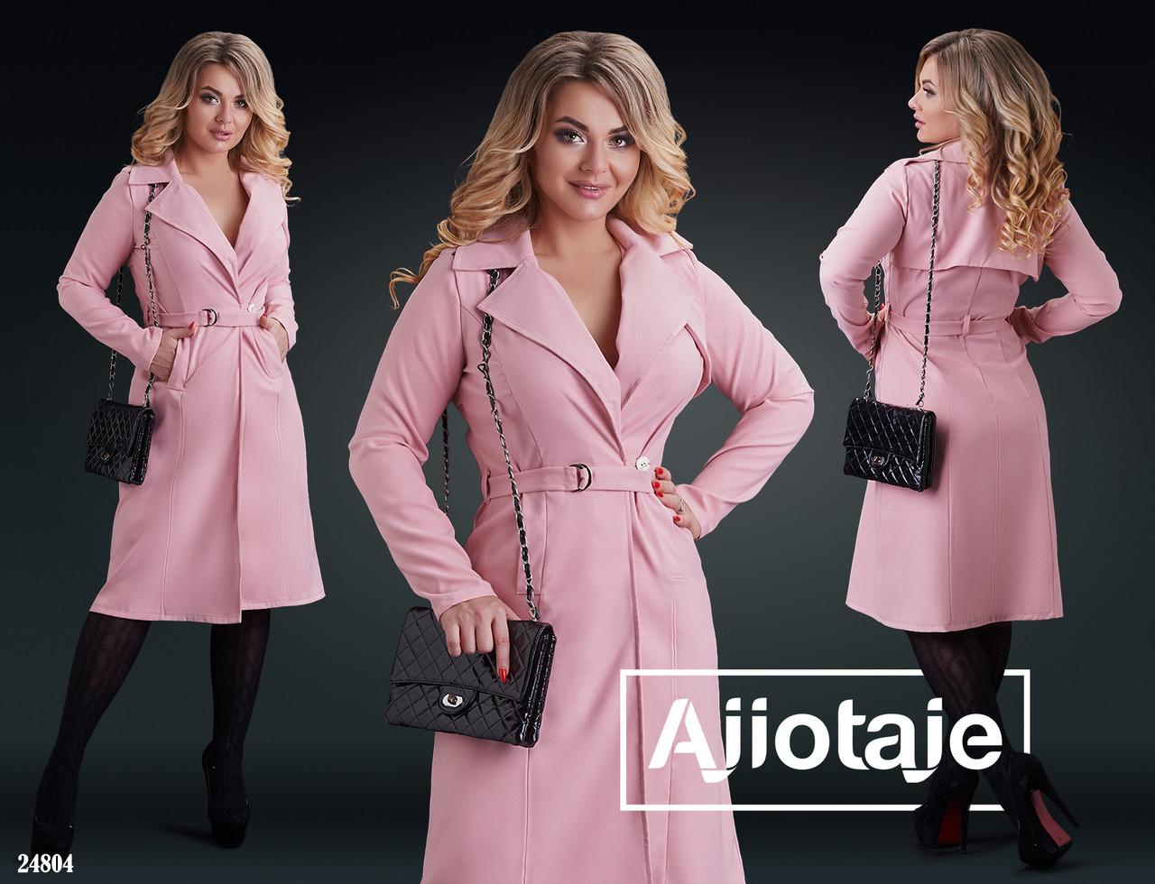 Легкое пальто женское   батал р.50-56  Ajiotaje XL