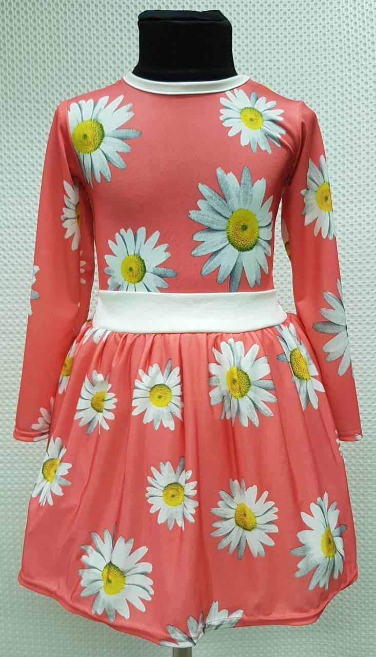 Детское платье длинный рукав Лика р104-122