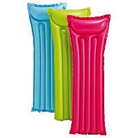 """Пляжный надувной матрас для плавания """"Intex""""  (3 цвета) Economats (183х69 см)"""