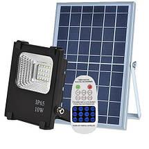 Светодиодный led прожектор 10W на солнечной батарее VARGO с пультом. Лед, фото 2