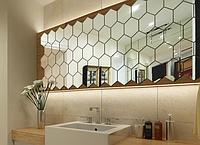 Акриловое зеркало «Сота» 200×173×100×1 мм 1 шт серебро