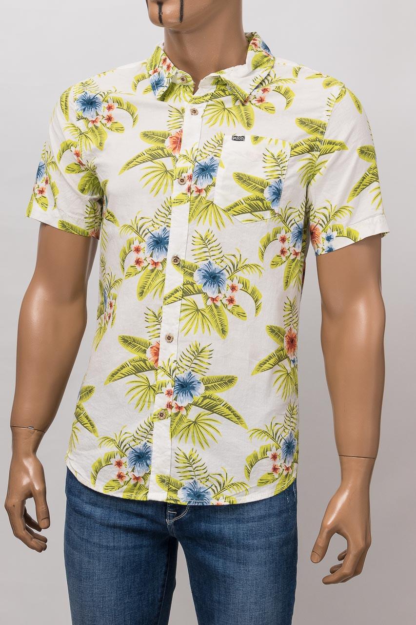 Рубашка с коротким рукавом мужская MZGZ MZGZ CLOWER WHITE