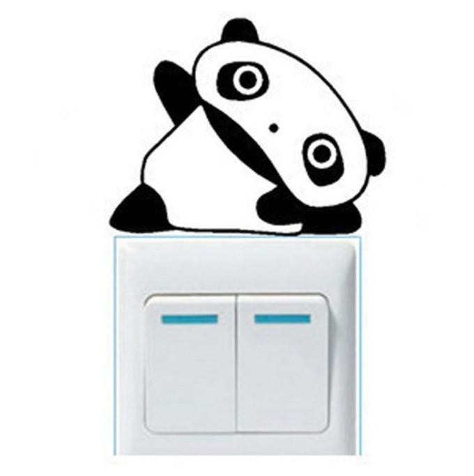 Наклейка для переключателя Панда черная