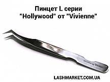 """Пинцет L серии """"Hollywood""""  от """"Vivienne"""", зеркальный"""