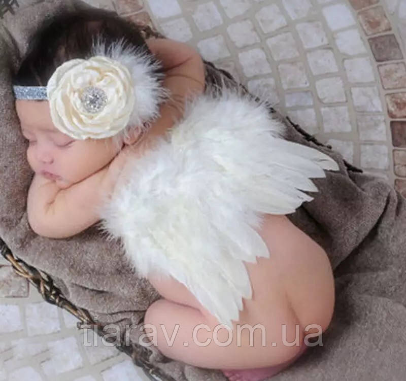 Набір янголятка крильця дитячі БІЛІ крила ангела Крильця для фотосесії костюми