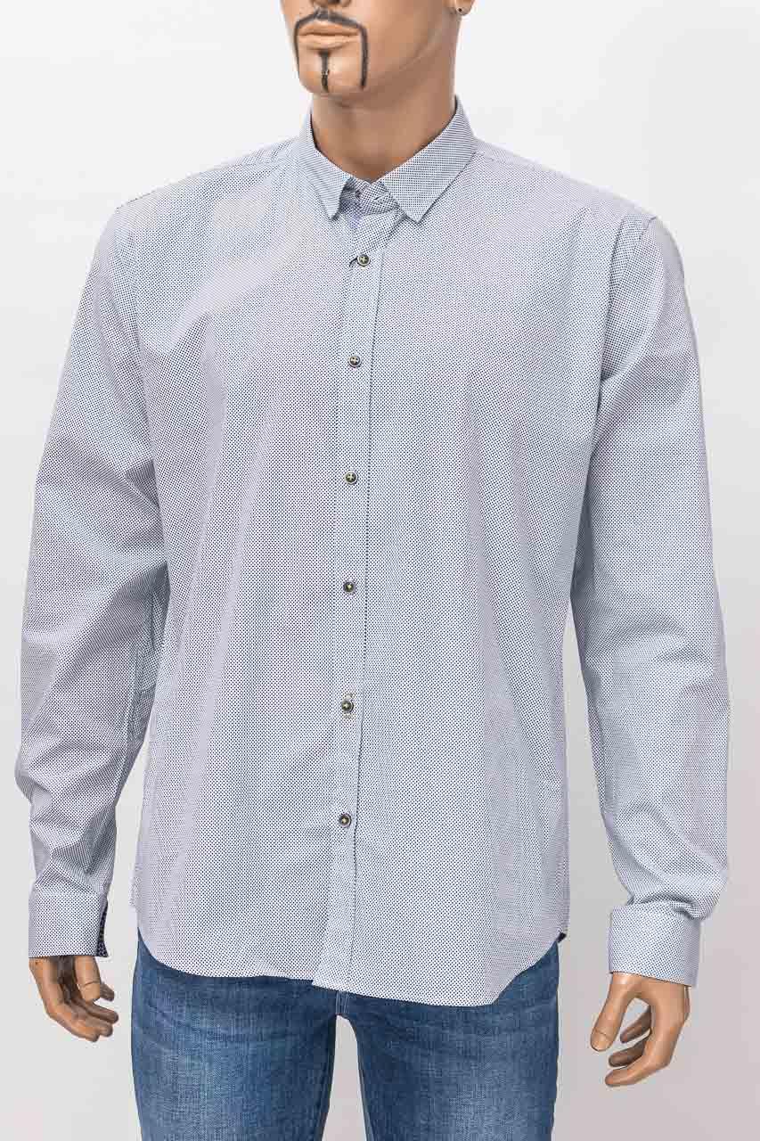 Рубашка с длинным рукавом мужская ZEN-ZEN 00524 LACI/BEYAZ 02