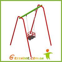 Качель одинарная с гибким подвесом и сидением для маленьких деток, фото 1