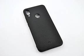Чохол для телефону Xiaomi Redmi Note 7 Silicone Series Leather Black