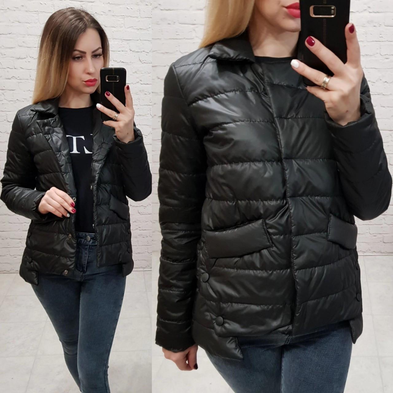Куртка демисезон, ВЕСНА 2019, модель 332, цвет - черный