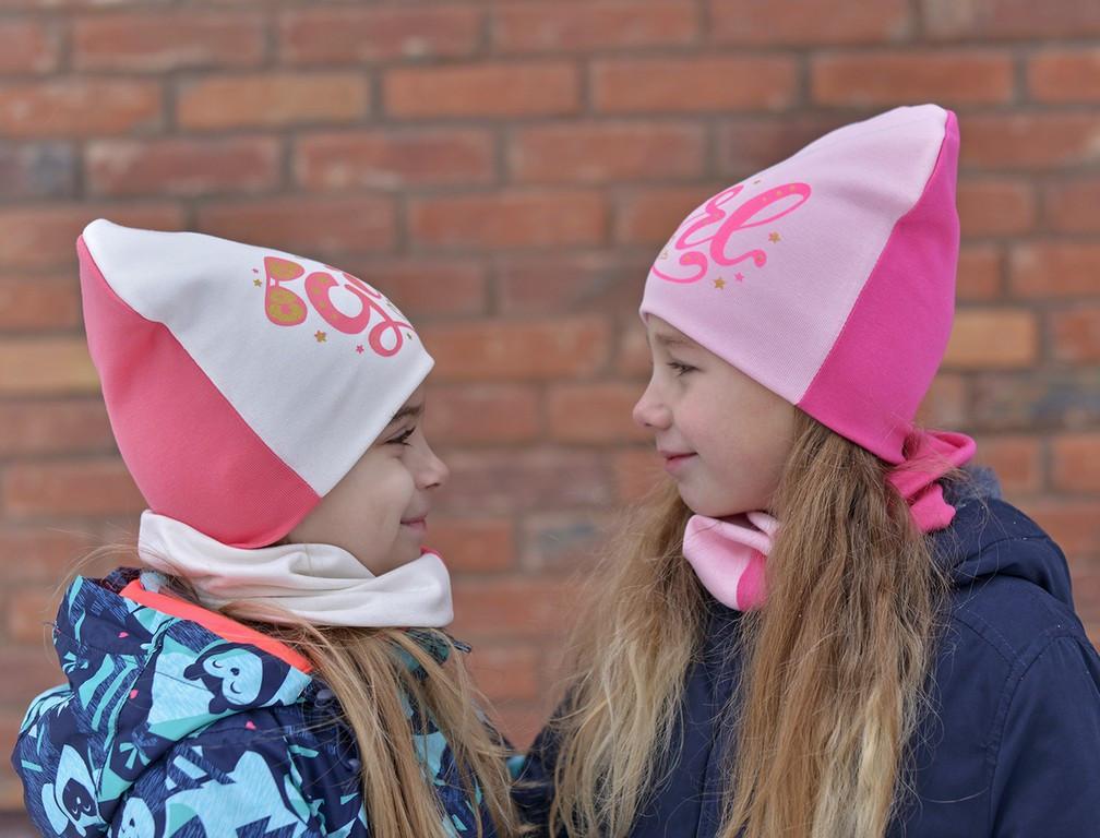 Шапка трикотажная Комплект двойной Cool girl (двойной трикотаж)