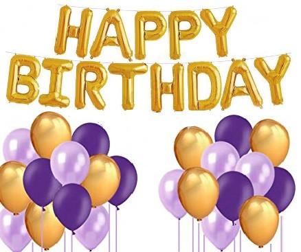 """Набор шаров на день рождения, """"HAPPY BIRTHDAY"""" 028"""