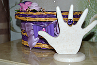 ДЕКОРАТИВНАЯ Подставка для украшений, колец. СТАТУЭТКА РУКА (ручная работа) Искусственный камень