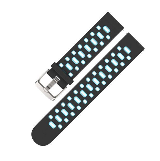 Amazfit Bip / GTS Ремешок для смарт часов, Black with blue, ширина - 20 мм.