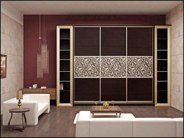 Шкафы купе в гостиную на заказ Киев, дизайн, фото
