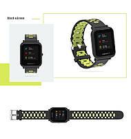 Amazfit Bip / GTS Ремешок для смарт часов, Black with green, ширина - 20 мм., фото 2
