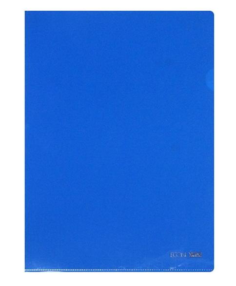 Папка уголок А4 плотная синяя N31153-02