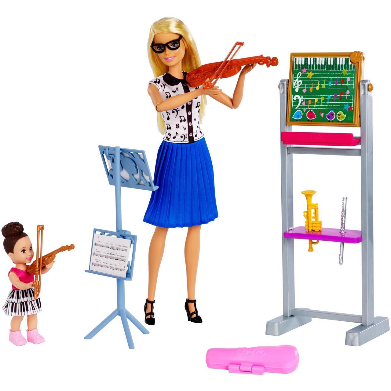 Барби Учительница музыки Barbie Careers Music Teacher Doll & Student Doll Playset
