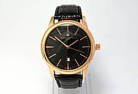 Мужские часы Vacheron на черном ремешке, кварцевые VC01