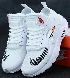 Мужские Кроссовки Nike Air Huarache Off White White, найк хуарачи