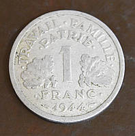 Франция 1 франк 1944 год(ББ)