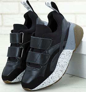 Женские Кроссовки STELLA MCCARTNEY Eclypse BLACK Sneakers, Стелла Маккартни Черные